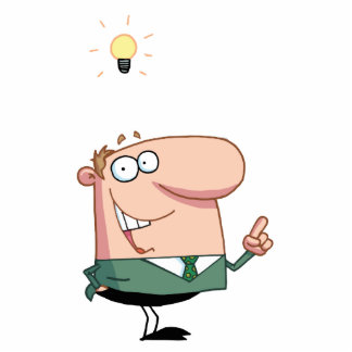 Bright Idea Business Man Photo Cut Outs