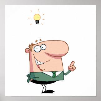Bright Idea Business Man Poster