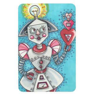 Bright Idea GIRL ROBOT HEARTS MAGNET *Big
