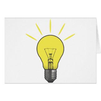 Bright Idea Light Bulb Card