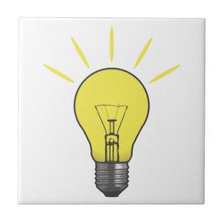 Bright Idea Light Bulb Ceramic Tile