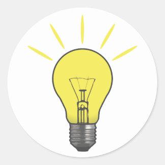 Bright Idea Light Bulb Classic Round Sticker
