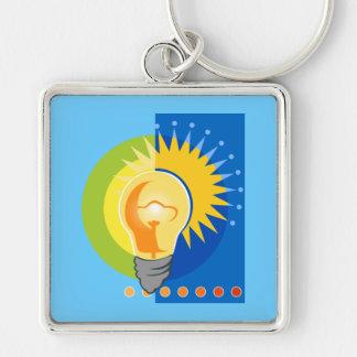 Bright Idea Light Bulb Electric Keychain