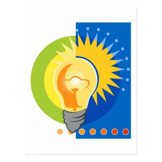 Bright Idea Light Bulb Electric Postcard