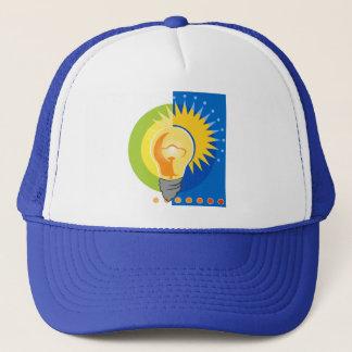 Bright Idea Light Bulb Electric Trucker Hat