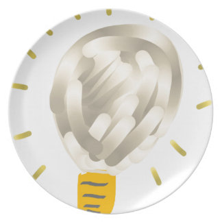 Bright idea light bulb melamine plate