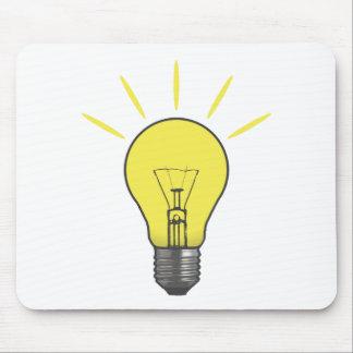 Bright Idea Light Bulb Mousepads