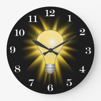 Bright Idea Light Bulb (Removable Numbers) Large Clock