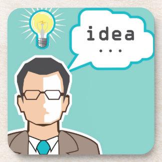 Bright Idea Man vector Illustration Coaster