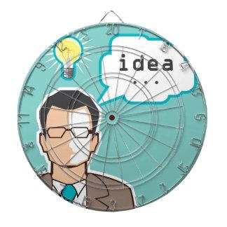 Bright Idea Man vector Illustration Dartboard