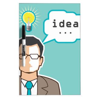 Bright Idea Man vector Illustration Dry-Erase Board