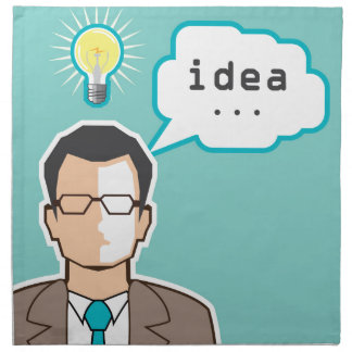 Bright Idea Man vector Illustration Napkin