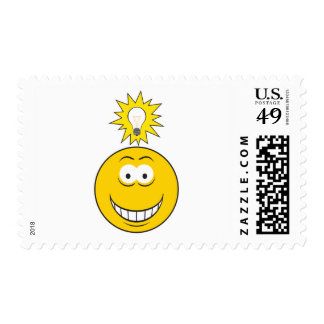 Bright Idea Smiley Face Postage Stamps