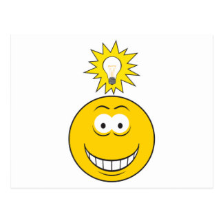 Bright Idea Smiley Face Post Card