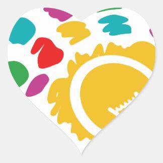 bright ideas heart sticker