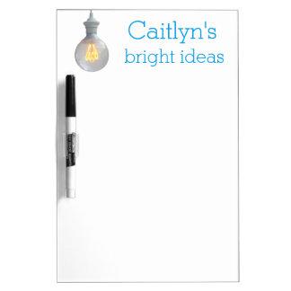 Bright Ideas Lightbulb | Custom Name Template Dry-Erase Board