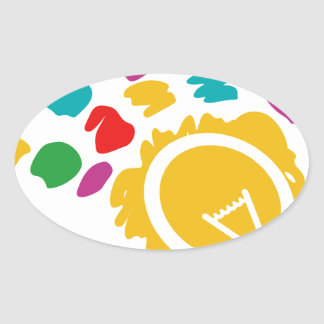 bright ideas oval sticker