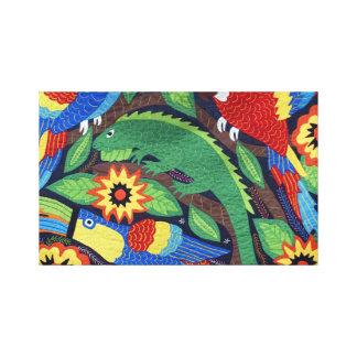 Bright Iguanas Canvas Print