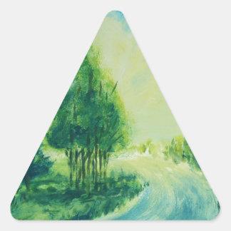 bright imagination triangle sticker