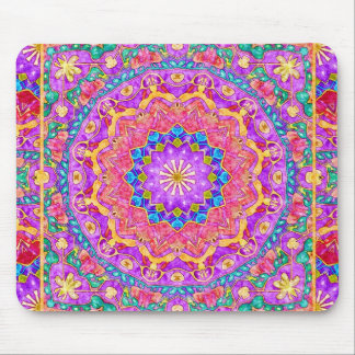 Bright India Watercolor Mandala Mousepad