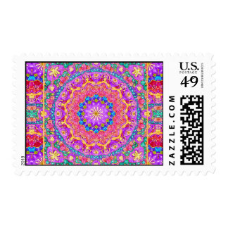 Bright India Watercolor Mandala Postage