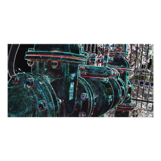 Bright Industrial Pipe Photo Card
