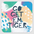 Bright Inspiration II | Go Get 'Em Tiger Square Sticker