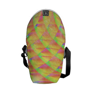 Bright Interference Courier Bag