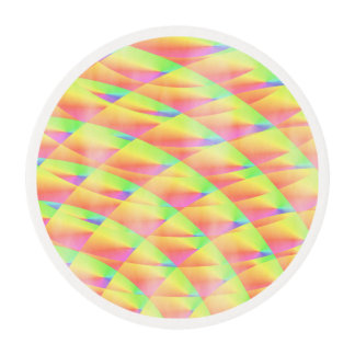 Bright Interference Edible Frosting Rounds