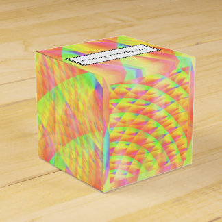 Bright Interference Wedding Favor Boxes