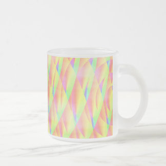 Bright Interference Frosted Glass Mug