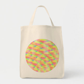 Bright Interference Grocery Bag