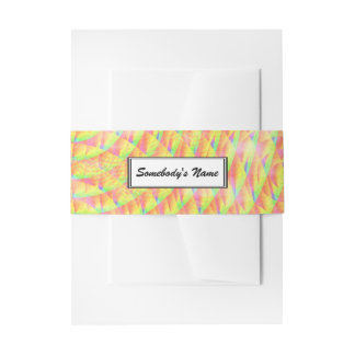Bright Interference (Personalized) Invitation Belly Band