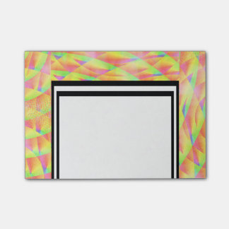 Bright Interference Post-it Notes
