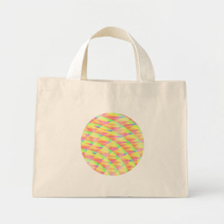 Bright Interference Tiny Tote Canvas Bag