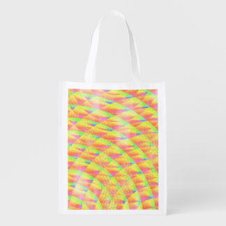 Bright Interference Grocery Bags
