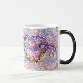 Bright Iridescent Fractal Nautilus Composite Art Magic Mug