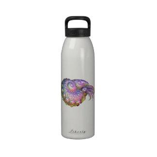 Bright Iridescent Fractal Nautilus Composite Art Reusable Water Bottle