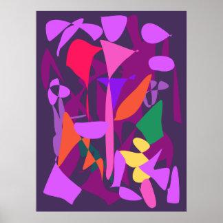 Bright Irregular Forms 2 Print