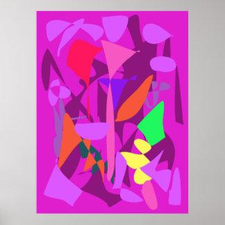 Bright Irregular Forms 4 Poster
