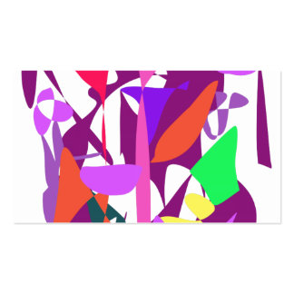Bright Irregular Forms Double-Sided Standard Business Cards (Pack Of 100)