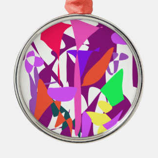 Bright Irregular Forms Christmas Tree Ornaments