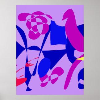 Bright Irregular Forms Poster