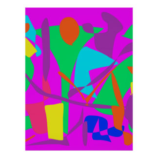 Bright Irregular Forms Posters