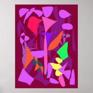 Bright Irregular Forms Print