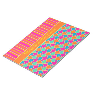 Bright Islamic Pattern and Stripes Notepad, Jotter Notepad
