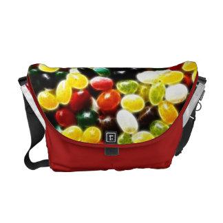 Bright Jellybean Fractal Messenger Bag