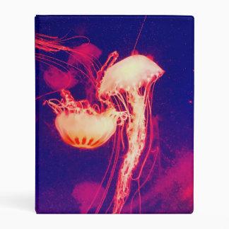 Bright Jellyfish Mini Binder