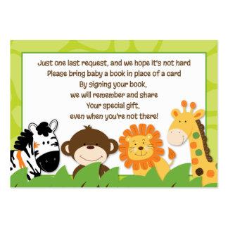 Bright Jungle Safari Enclosure Book Request Cards