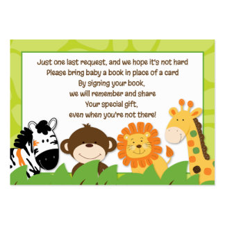 Bright Jungle Safari Enclosure Book Request Cards Large Business Cards (Pack Of 100)